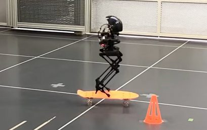 A Bipedal robot that can walk and fly